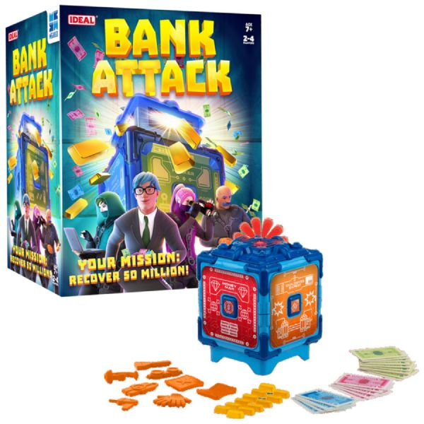 Bank Attack Electronic Cooperative Family Game For 2 - 4 Players - Ages 7+ Years